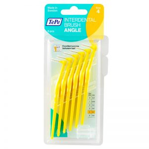 TePe Angle - Yellow Fine (Pack of 6)