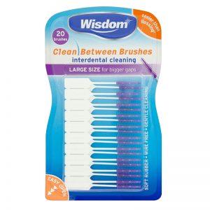 Wisdom Clean Between Interdental Brushes: Large - Purple