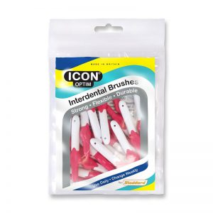Icon Optim Interdental Brushes: Original - Size 0 - 0.4mm - Pink (Pack of 25)