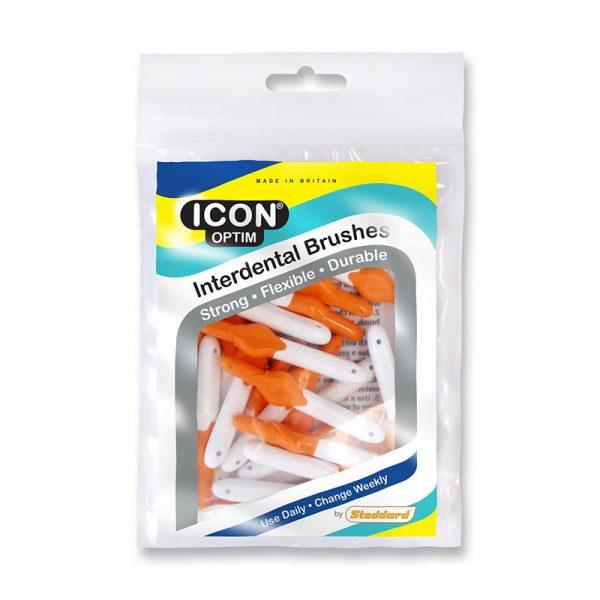 Icon Optim Interdental Brushes: Original - Size 1 - 0.45mm - Orange (Pack of 25)