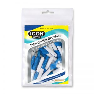 Icon Optim Interdental Brushes: Original - Size 3 - 0.6mm - Blue (Pack of 25)