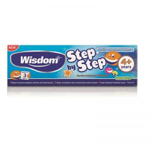 Wisdom Step By Step 4+ Toothpaste - 75ml
