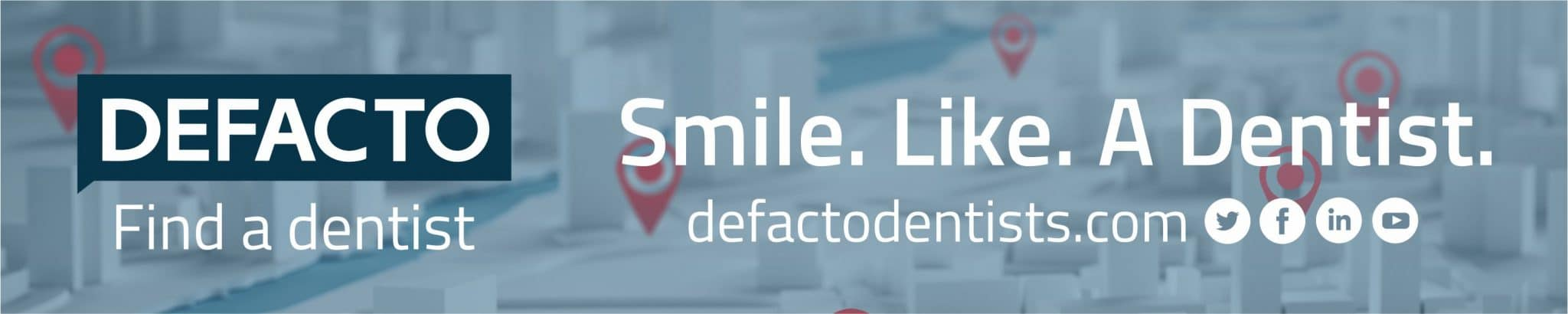 Defacto smile like a dentist banner1