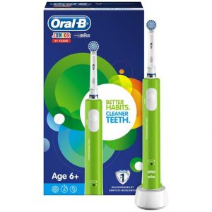 ORAL B JUNIOR YRS 6+ POWER HANDLE GREEN