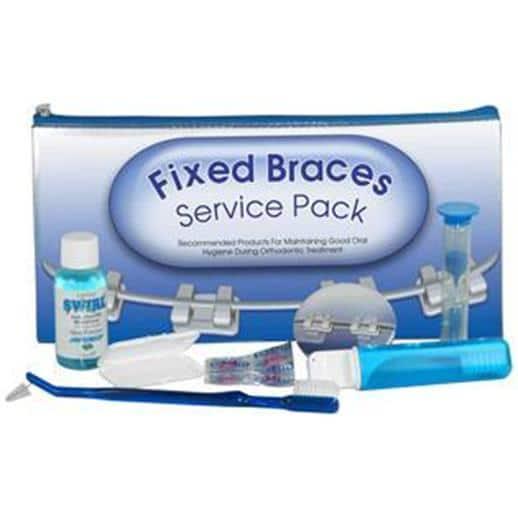 Fixed braces orthodontic kit
